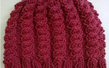 Gorro Feminino de Tricô Pink – Material e Receita