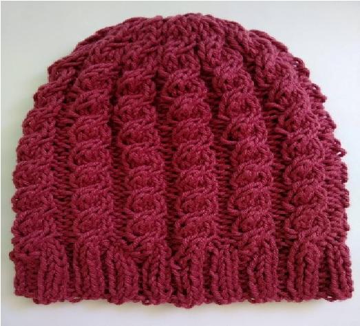 Gorro Feminino de Tricô Pink - Material e Receita