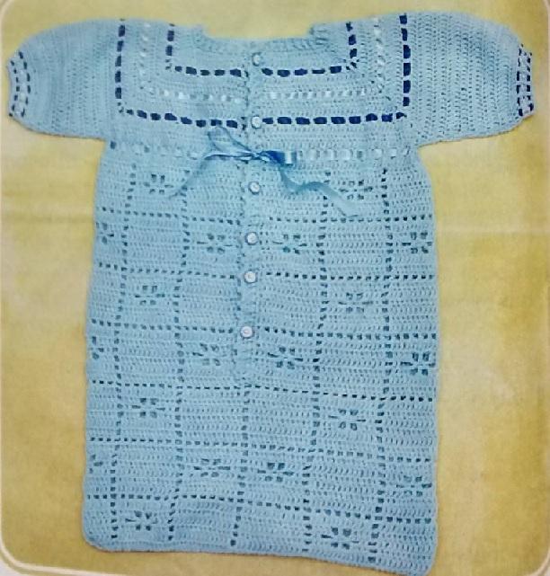 Porta bebe azul croche-