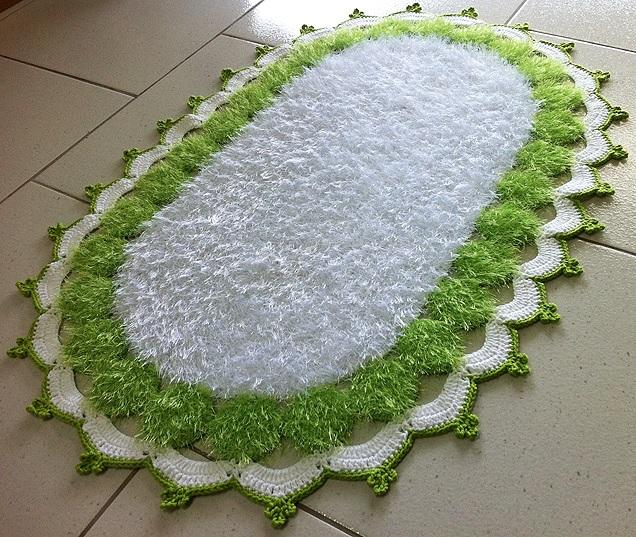 Tapete Decore Verde e Branca - Material e Execução