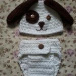 Touca e Tapa Fraldas Cachorrinho Crochê – Material e Como Fazer