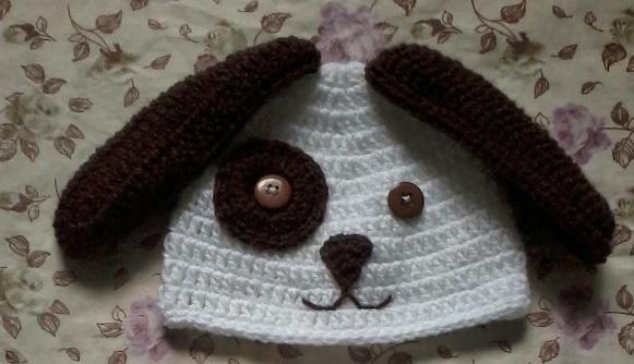Touca e Tapa Fraldas Cachorrinho- crochet receita
