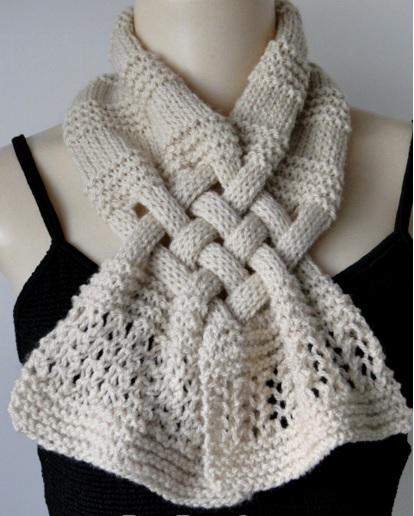 cachecol trançado trico como fazer
