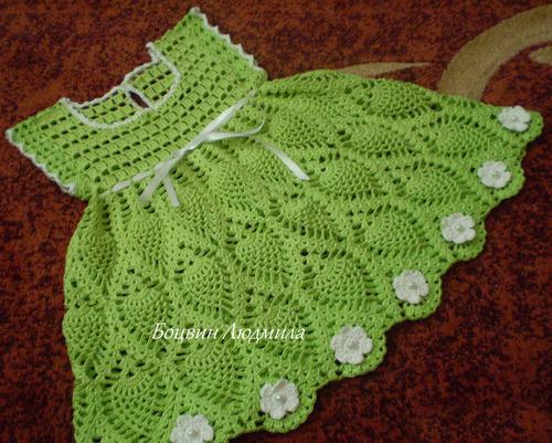 vestido verde croche final