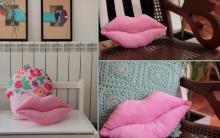 Almofada Boca Em Tecido – Material e Como Fazer