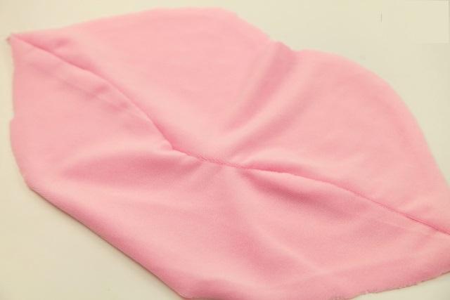 Almofada Boca Em Tecido - Costurada