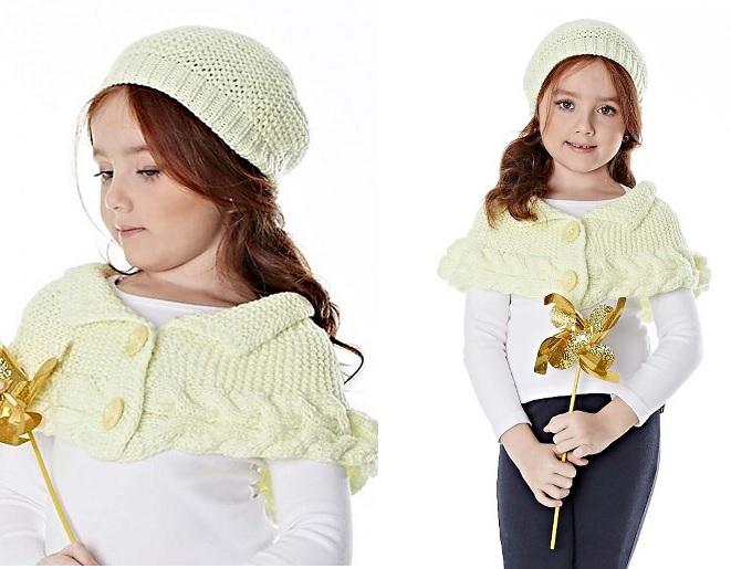 Boina e Mini Poncho em trico - como fazer e grafico