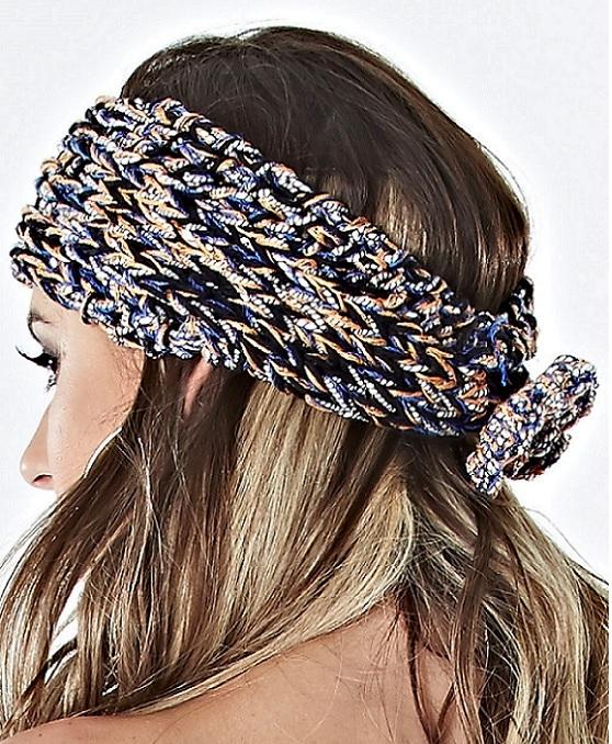 Faixa Para Cabelo de Crochê - Como Fazer
