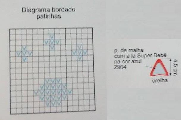 Macacão Gatinho Infantil - diagrama patinhas