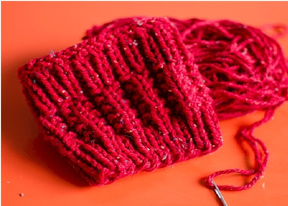 Mini Polaina Tricô-vermelha