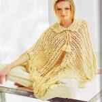 Poncho Amarelo Em Crochê – Gráfico e Receita