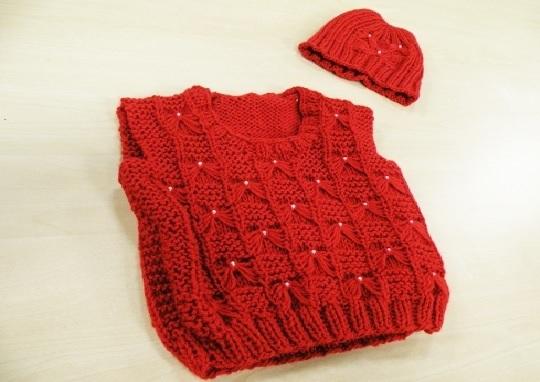 colete infantil em tricô -