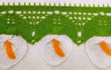 Barrado Crochê Copo de Leite – Material e Como Fazer