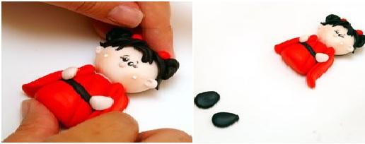 Bonequinha Japonesa Biscuit – Passo a Passo mãos