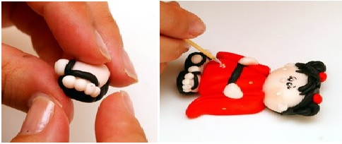 Bonequinha Japonesa Biscuit – Passo a Passo pé