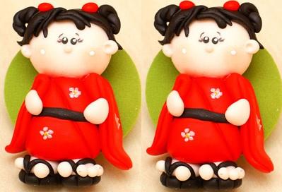 Bonequinha Japonesa Biscuit –