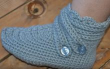 Botinha Em Crochê Para Adulto – Material e Como Fazer