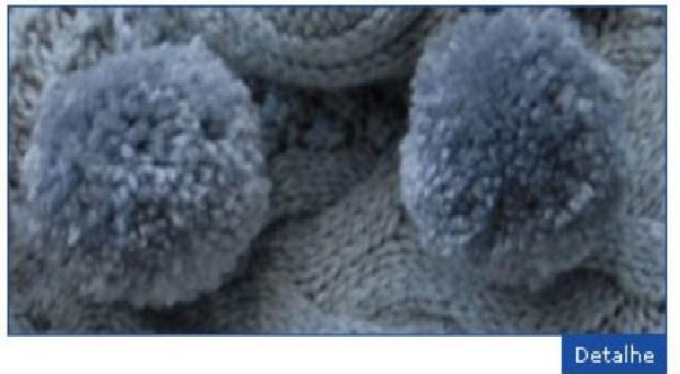 Gorro Cinza com Pompom fazer detalhe