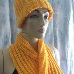Gorro e Cachecol Amarelo Tricô – Material e Como Fazer