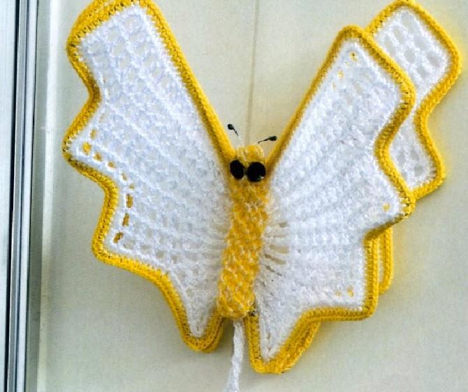 porta toalhas borboleta-