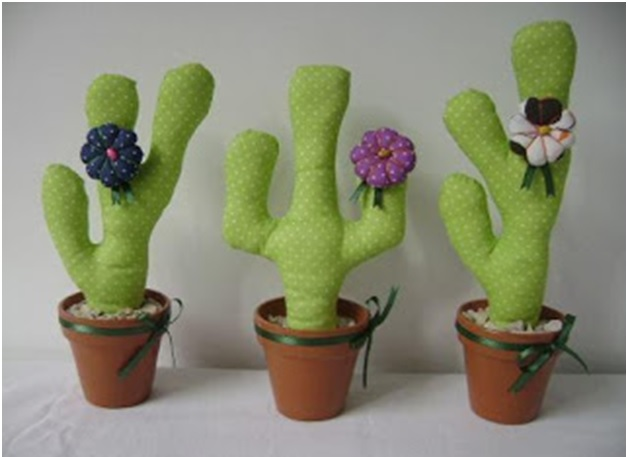 Cactus em Tecido - passo passo