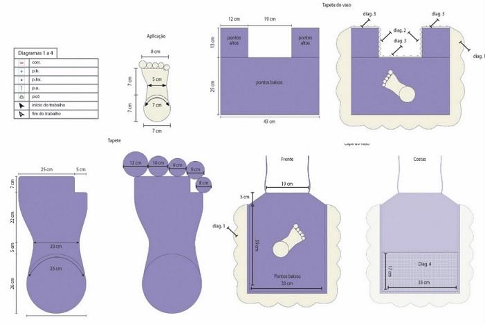 Conjunto de Banheiro Pezinhos – Material e grafico1
