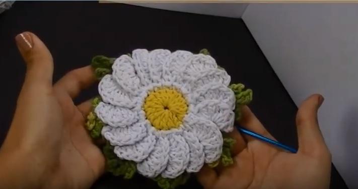 Flor Camomila em Croche - Material e aula