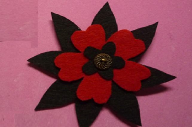 Flor em Feltro capa