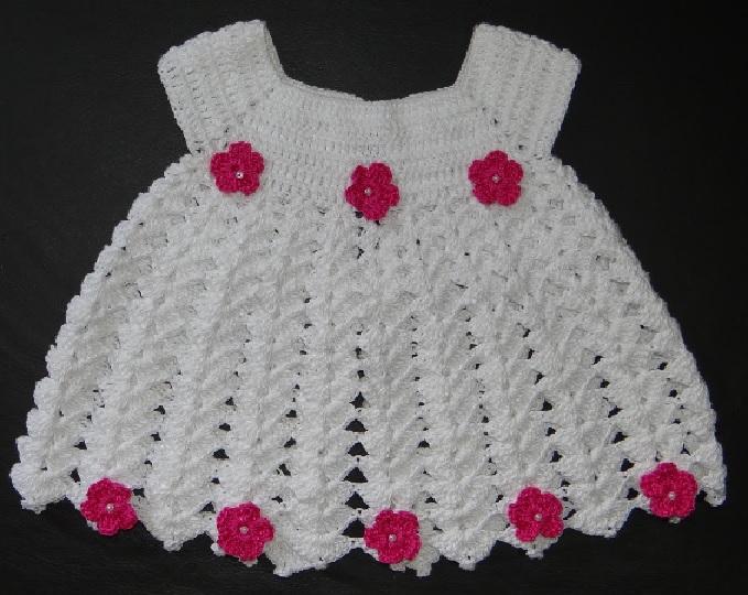 Vestido Para Bebê Em Crochê