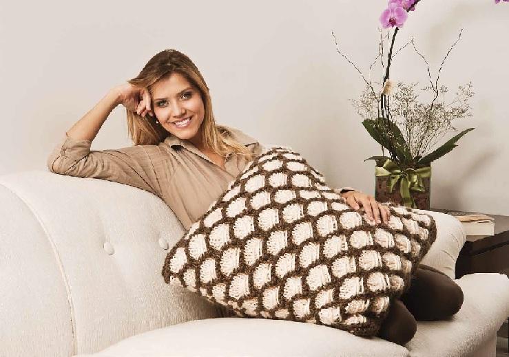 almofadão em trico- receita
