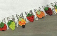 Barrado Frutas Em Crochê – Material e Receita
