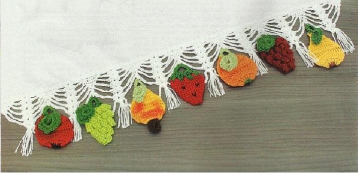barrado frutas em croche