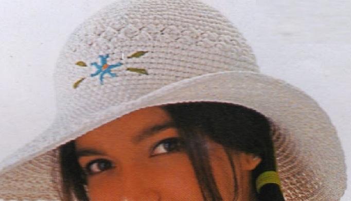 chapéu de praia flor