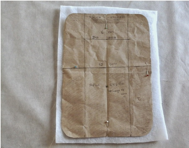 porta talheres em tecido corte manta