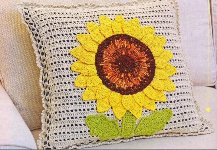 almofada-girassol-em-croche-material-e-como-fazer