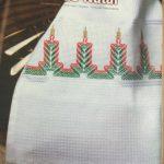 Bordado Vela de Natal Vagonite- Material e Como Fazer