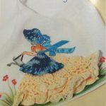 Pano de Prato Menina Em Crochê – Material e Receita