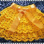 Saia Amarelo Ouro Em Crochê – Como Fazer