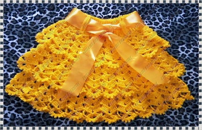 Saia Amarelo Ouro Em Crochê Como Fazer