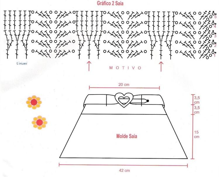 Saia e Blusa Infantil Em Crochê – Material graficosaia