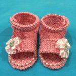 Sandália Bebê Rosa Crochê – Material e Como Fazer