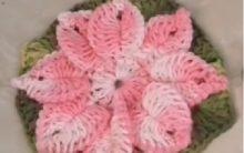 Flor Em Crochê – Material e Como Fazer