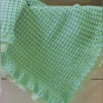 Manta Verde Para Bebê Em Crochê – Material e Como Fazer