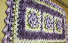Tapete Retangular Floral Em Crochê – Material e Como Fazer