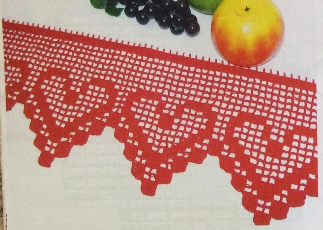 Bico Coração Em Crochê Filé - Material e Como Fazer | Bigtudo Artesanato
