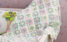 Cobertor Para Bebê Em Crochê – Material e Como Fazer