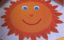 Tapete Sol Alegre Em Crochê – Material e Como Fazer