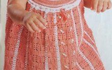 Vestido Bata Infantil Crochê – Material e Como Fazer
