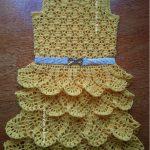 Vestido Infantil Saia Em Babados Crochê – Material e Vídeo