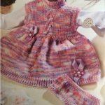 Vestido Rosa Mescla Em Tricô – Material e Como Fazer